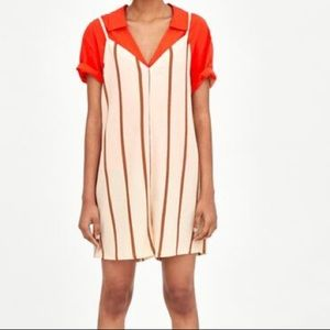 Zara Striped Textured Romper!